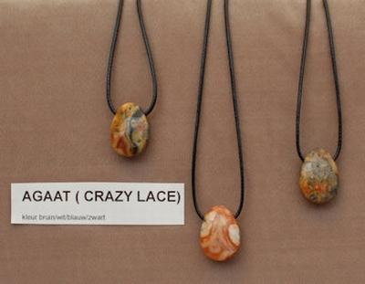 Agaat edelsteen kleur crazy lacy  1 Edelsteen