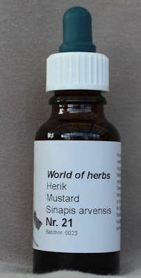 NR. 21  MUSTARD / HERIK / SINAPIS ARVENSIS  20 ml druppels