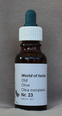 NR. 23  OLIVE / OLIJF / OLEA EUROPAEA  20 ml druppels