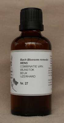 BACH BLOESEM REMEDIE NR. 27 SUPERACTIE  50 ml.