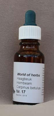 NR. 17  HAAGBEUK / HORNBEAM / CARPINUS BETULUS  20 ml druppels