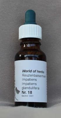 NR. 18  REUZENBALSEMIEN / IMPATIENS / IMPATIENS GLANDULIFERA  20 ml druppels