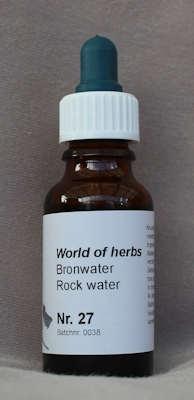 NR. 27  BRONWATER / ROCKWATER  20 ml druppels