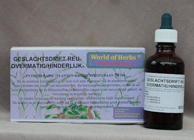 113 GESLACHTSDRIFT REU ; OVERMATIG, HINDERLIJK  50 ml.