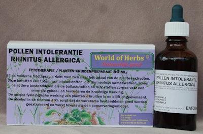 POLLEN INTOLERANTIE ; RHINITUS ALLERGICA FYTOTHERAPIE 142  50 ml.