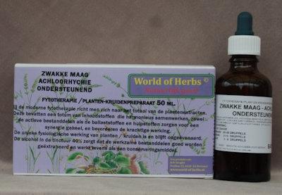 ZWAKKE MAAG, ACHLOORHYCHIE; ONDERSTEUNEND FYTOTHERAPIE 150  50 ml.