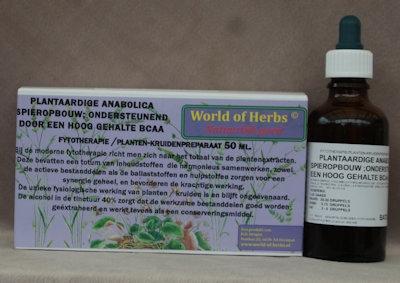 152 PLANTAARDIGE ANABOLICA ; SPIEROPBOUW; ONDERSTSTEUNEND  50 ml.