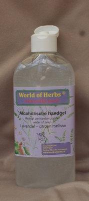 Alcoholische Handgel lavendel - citroen melisse  250 ml.
