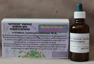ASTHENIE, ENERGIE GEBREK AAN; ONDERSTEUNEND FYTOTHERAPIE 182  50 ml.