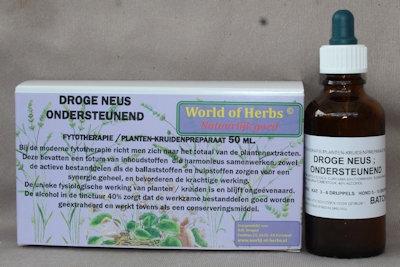 DROGE NEUS ; ONDERSTEUNEND FYTOTHERAPIE 198  50 ml.