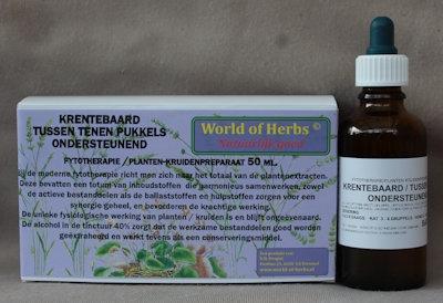KRENTEBAARD / TUSSEN TENEN PUKKELS ; ONDERSTEUNEND  50 ml.