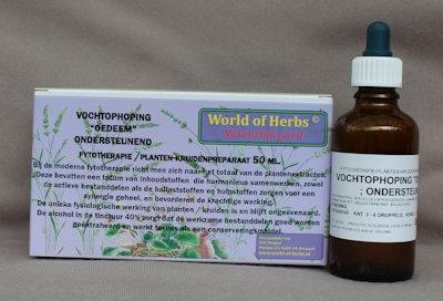 VOCHTOPHOPING / OEDEEM; ONDERSTEUNEND FYTOTHERAPIE 165  50 ml.