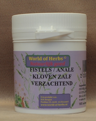 FISTELS / ANALE KLOVEN ZALF;  VERZACHTEND FYTOTHERAPIE 176  50 gram