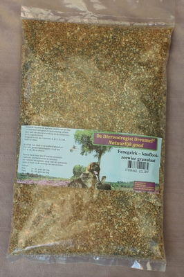 Fenegriek-knoflook-zeewier granulaat  1 kg.