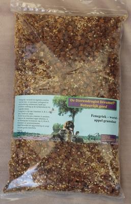 Fenegriek- knoflook- appel granulaat  1 kg.