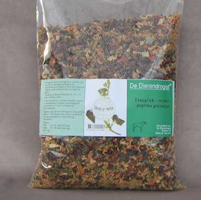 Fenegriek-wortel-paprika granulaat  1 kg.