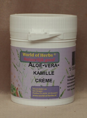 Aloe Vera-kamille crème  50 gram