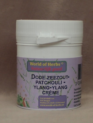 Dode zeezout - patchouli  crème  50 gram