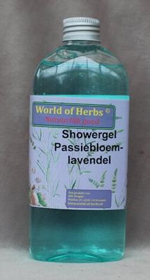 Showergel passiebloem/lavendel  250 ml.