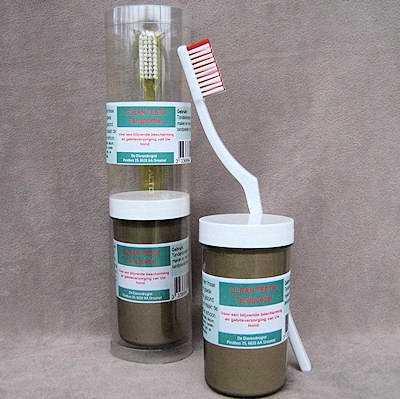 Clean teeth tandpoeder (inclusief tandenborstel)  50 gram