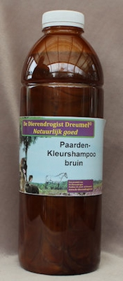 Paarden kleurshampoo bruin
