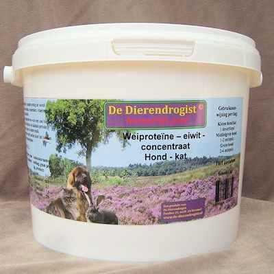 Weiproteïne - eiwit - concentraat hond/kat  SUPERACTIE  1 kg.
