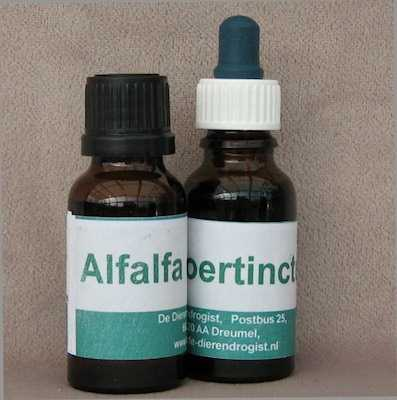 Alfalfa oertinctuur.  20 ml druppels