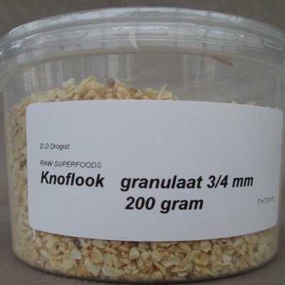 Knoflook granulaat 3-4 mm.  200 gram