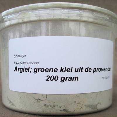 Argiel, groene klei uit de Provence AKTIE 50%  250 gram
