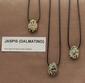 Jaspis Dalmatino edelsteen (Mexcico) geel-wit-grijs 1 Edelsteen