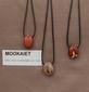Mookaïet edelsteen (Australië)  bruin-mosterd-wit-rood 1 Edelsteen