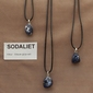 Sodaliet edelsteen (Namibië) blauw-grijs-wit 1 Edelsteen